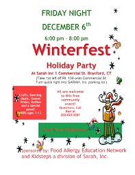 holiday party invitation 2013 food allergy education network