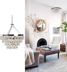 Robert Abbey Bling Chandelier Get The Look Living Room Ceiling Lighting Euro Style Home Blog