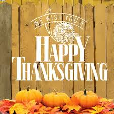 we wish you happy thanksgiving greeting card