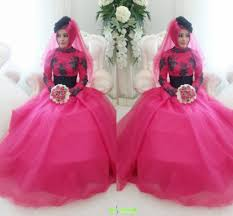 fuschia wedding dress 2015 black and fuschia a line high neck lace wedding dress