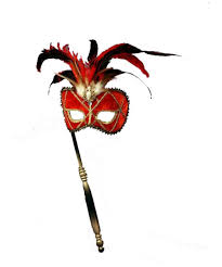 red stick halloween mask costume mask