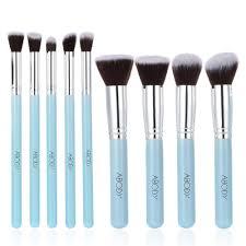 abody 9pcs makeup brush kit wood professional cosmetic set