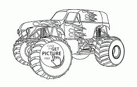 beautiful monster truck coloring page for kids transportation