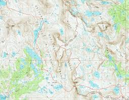 Lake Alan Henry Map Wind River High Route A Guide Adventure Alan