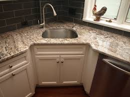 Corner Sink Transitional Kitchen Newark By KraftMaster - Corner sink for kitchen