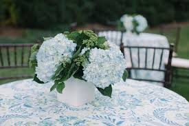 Hydrangea Centerpiece Blue Hydrangea Wedding Centerpiece