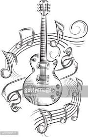 guitare coloriages pinterest tattoo drawings and tatoo