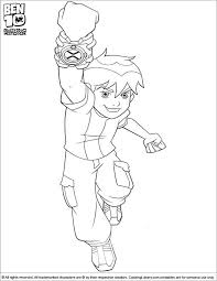 ben 10 coloring page ben is jumping with joy coloring pages for