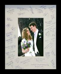 wedding autograph frame modern hearts wedding guest book unique guestbook by harveygrey