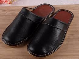 mens leather bedroom slippers autumn 100 percent genuine leather house slippers women men couple