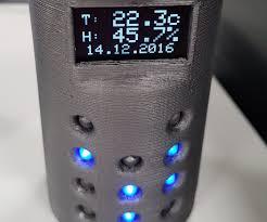 arduino binary clock 3d printed