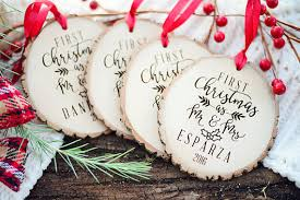 St Christmas Ornament Wedding - our first christmas wedding gift rustic first christmas