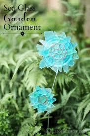 sea glass garden ornament hearth vine