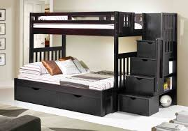Sofa Bed With Storage Drawer Twin Loft Bed With Stairs Storage Drawers Stair Bunk Schoolhouse