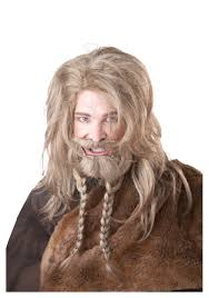 Viking Halloween Costume Blonde Viking Wig Beard Mustache