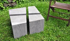 concrete and wood outdoor table etsy fragmented wood concrete coffee table outdoor furniture modern