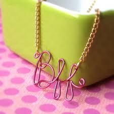 my monogram necklace c crafts wire crafts bff craft and crafty