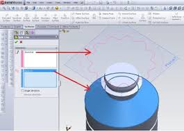 split line tool solidworks autocad unigraphics design
