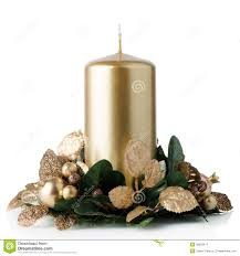 christmas candle decoration royalty free stock photography image