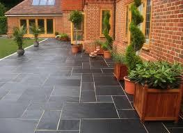 Backyard Flooring Options - nice design slate patio tiles strikingly inpiration outdoor slate