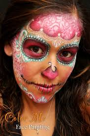 delicate day of the dead sugar skull makeup dayofthedead