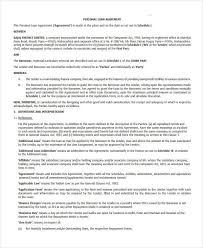 simple loan document templates franklinfire co