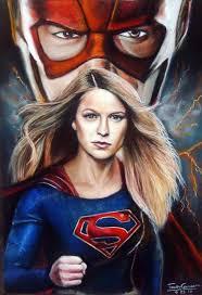 the flash fan art supergirl vs the flash pastel drawing fanart by fawncorner on deviantart