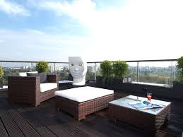 awesome apartment balcony ideas with rattan furniture sets plus