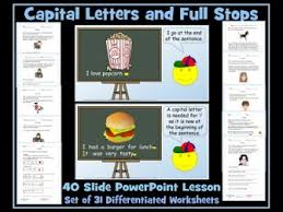 using full stops and capital letters 40 slide powerpoint lesson