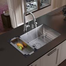single kitchen sink faucet vigo 32 inch undermount single bowl 16 stainless steel