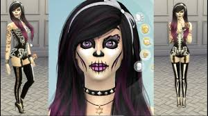 pink skeleton halloween costume day of the dead the sims 4 halloween costume cas skeleton youtube