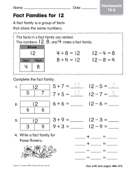 math fact families worksheets 2nd grade u0026 common worksheets fact