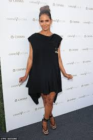 halle berry in cape like dress at chivas venture event daily