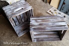 White Wash Coffee Table - diy vintage chic diy vintage wine crate coffee table whitewash