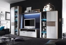 Wohnzimmerschrank Auf Rechnung Wohnwand Weiß Hochglanz San Remo Eiche Acena1 Designermöbel