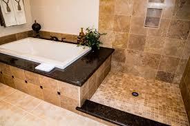 travertine bathroom remodeling project in austin tx vintage