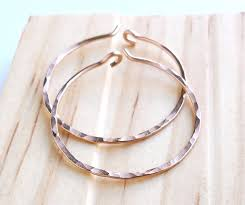 hammered hoops gold filled hammered hoop earrings on luulla