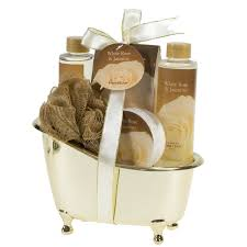 bathroom gift basket ideas spicy warm vanilla spa bath body bamboo gift basket basketsoffun