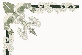 corner ornament italian style free vector in encapsulated