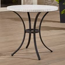 Grey Bistro Table Mosaic Bistro Table In Dining Furniture Reviews Crate And Barrel