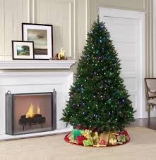 decoration 7 foot tree showtime pre lit
