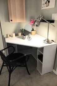 gaming desk ideas corner desk white gray wooden l shape with storage combined
