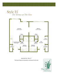 floor plans of the terrace at the glen assisted living in the terrace at the glen floor plans