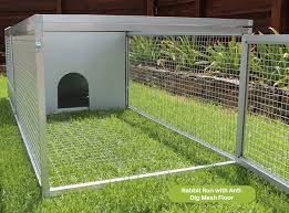 Rabbit Hutch With Detachable Run Rabbit Run With U0027anti Dig U0027 Mesh Floor Rabbit Runs U0026 Hutches