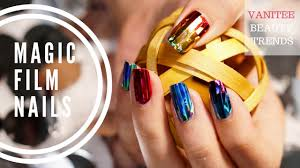 latest korean nail trend magic film nails youtube