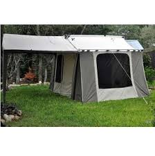 12 Awning Kodiak Canvas Tent 6 Person 9 Ft X 12 Ft With Deluxe Awning