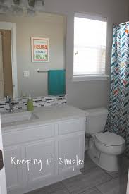 keeping it simple kids gray and white bathroom makeover