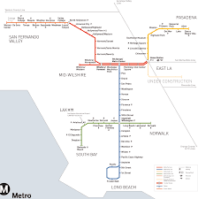 Metro La Map Los Angeles Metro Map Overlay