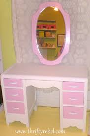 Pink Vanity Set Pretty In Pink Vanity U0026 Mirror Makeover Thrifty Rebel Vintage