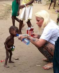this kid had his birthday remember the starving kid left to die by his parents he just had